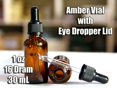 1oz 5ML Amber Vial with Dropper