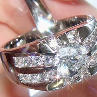 Lab Created Diamond Ring #1001
