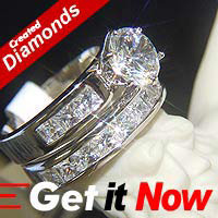Lab Created Diamond Ring #104