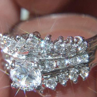 Lab Created Diamond Ring #105