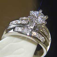 Lab Created Diamond Ring #108
