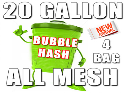 20 Gallon 4 Bag All Mesh Bubble Hash Bags