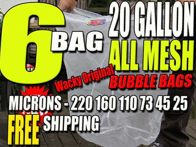 20 Gallon |6 Bag | All Mesh Bubble Hash Bags