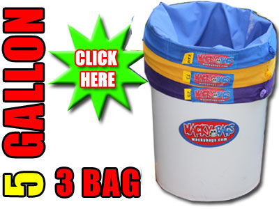 3 Bag 5 Gallon Bubble Ice Extraction Bags