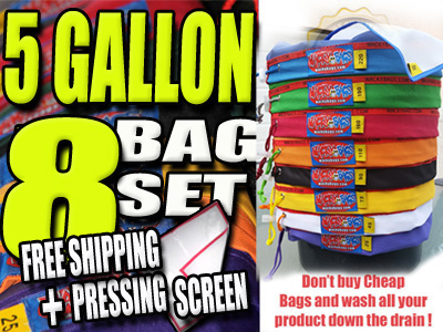 5 Gallon 8 Bag Wacky Hash Bag Set