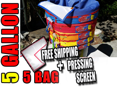5 Bag 5 Gallon Hashish Bubble Hash Bags