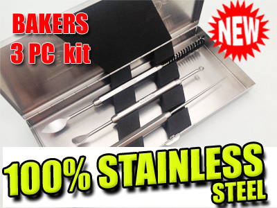 Bakers 3PC Tool Kit | Stainless Steel Dab Tools