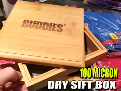 Bamboo Dry Sift | Wooden Keif Box | Pollen Screen