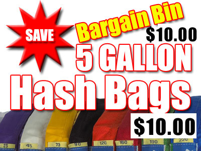 5 Gallon Single  Bargain Bin Bubble Hash Bags