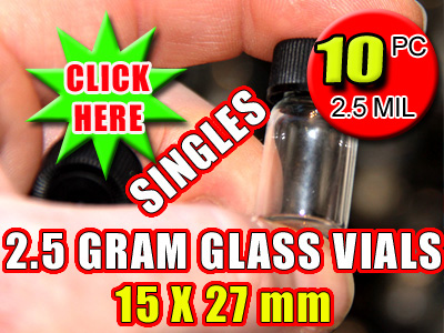 2.5 Gram Terpene Essential Oil | Glass Vials - 10 pack