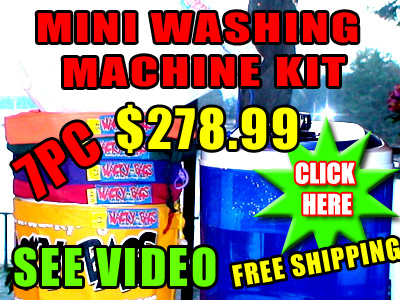 Bubble Hash Mini Washing Machine