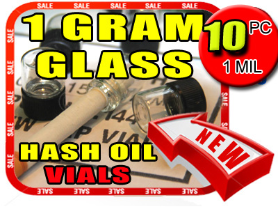 Glass 1 Gram Hash Oil Vials - Singles