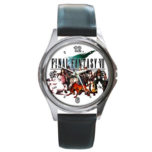 Final Fantasy Group Black Leather Watch