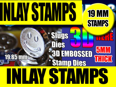 Hash Press Inlay 3D Stamps