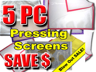 5 PC Pressing Screens