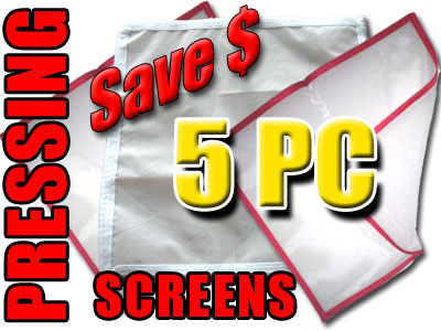 Pressing Screens 5 PC Herbal
