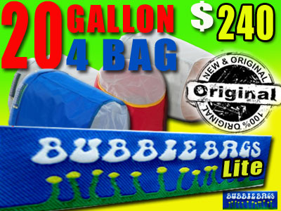 Bubble Bags LITE | 20 Gallon 4 Bag Kit