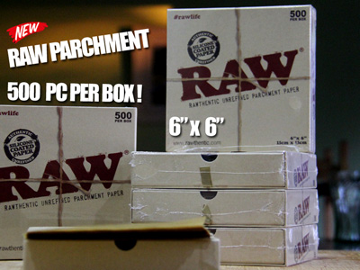 Rosin Raw 6x6 Parchment Paper | 500PC