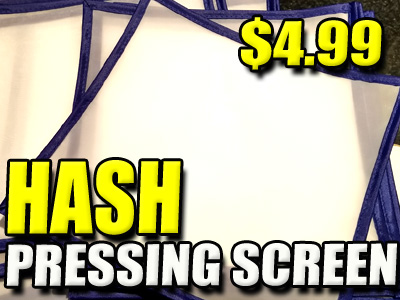 Bubble Hash Pressing Screen