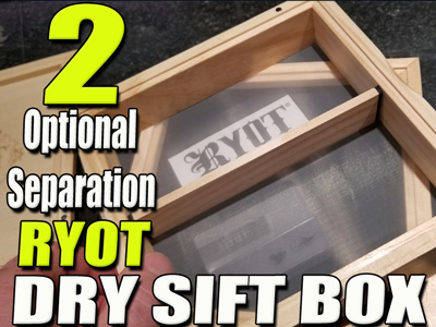 Ryot Dry Sift | Wooden Keif Box |