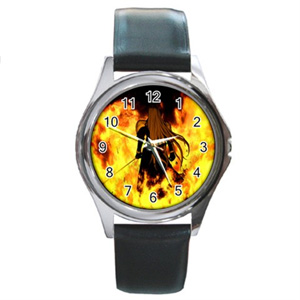 Final Fantasy Sephiroth Fire Leather Watch