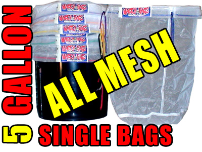 5 Gallon Single All Mesh Bubble Hash Bags