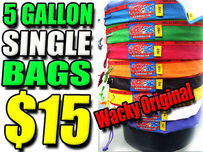 5 Gallon Single Wacky Bubble Hash Bags