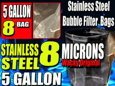 STAINLESS STEEL | BUBBLE FILTER BAGS | 5 GALLON