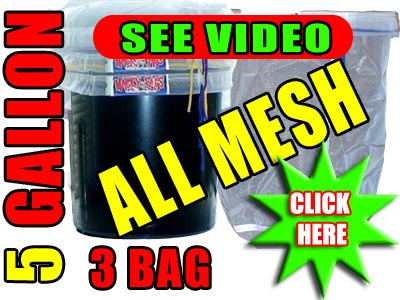 3 Bag All Mesh 5 Gallon Bubble Hash Bags