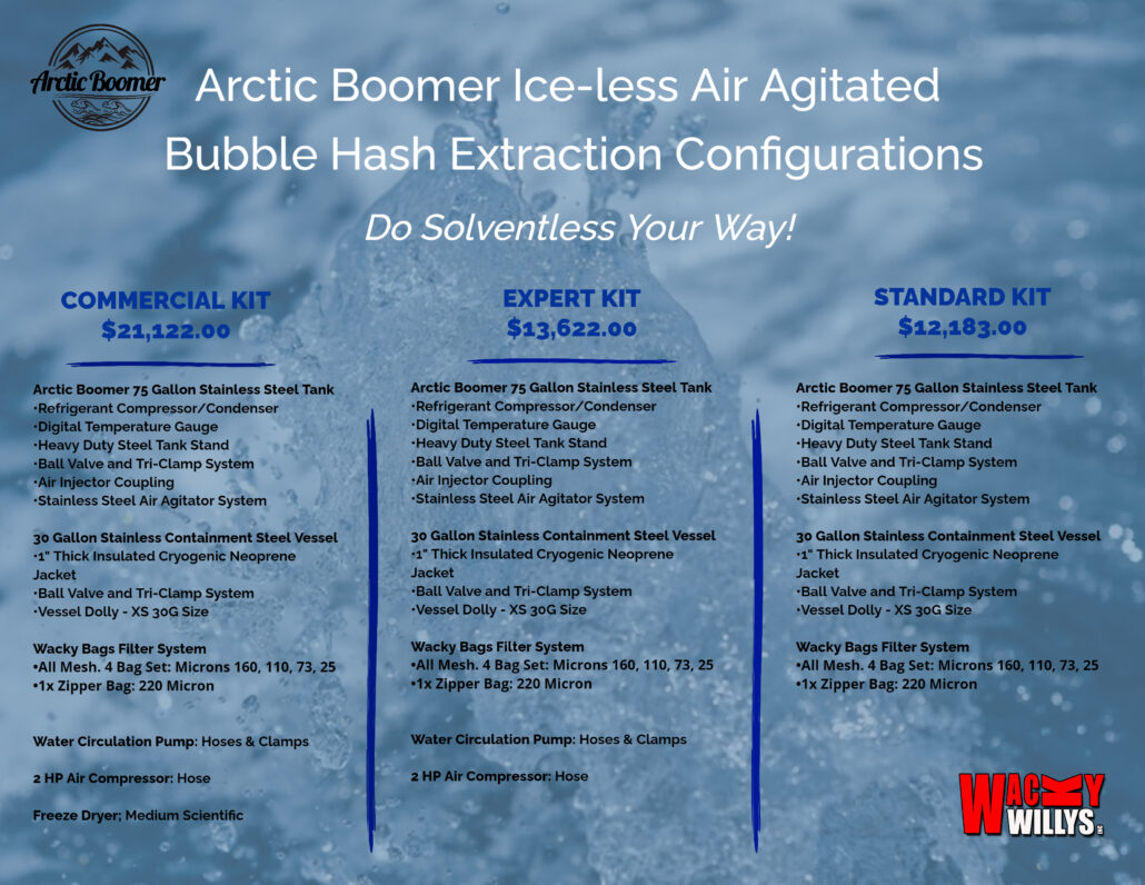 Arctic Boomer Bubble Hash Extraction Washer